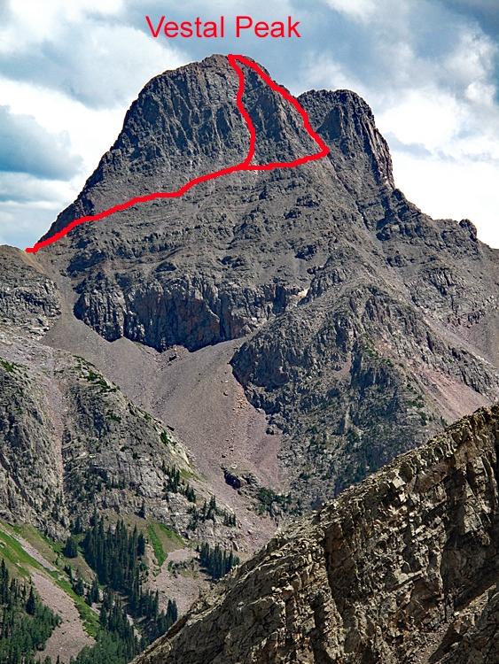 Vestal Peak - 13,864