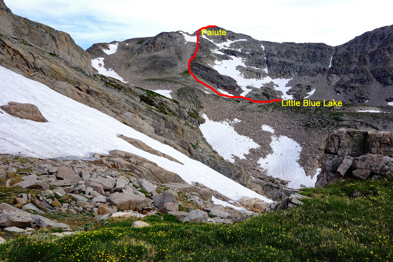 Paiute Route or descent