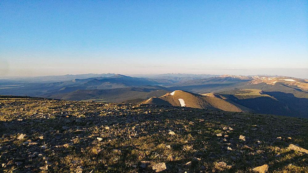 Purgatoire Summit view South Mack