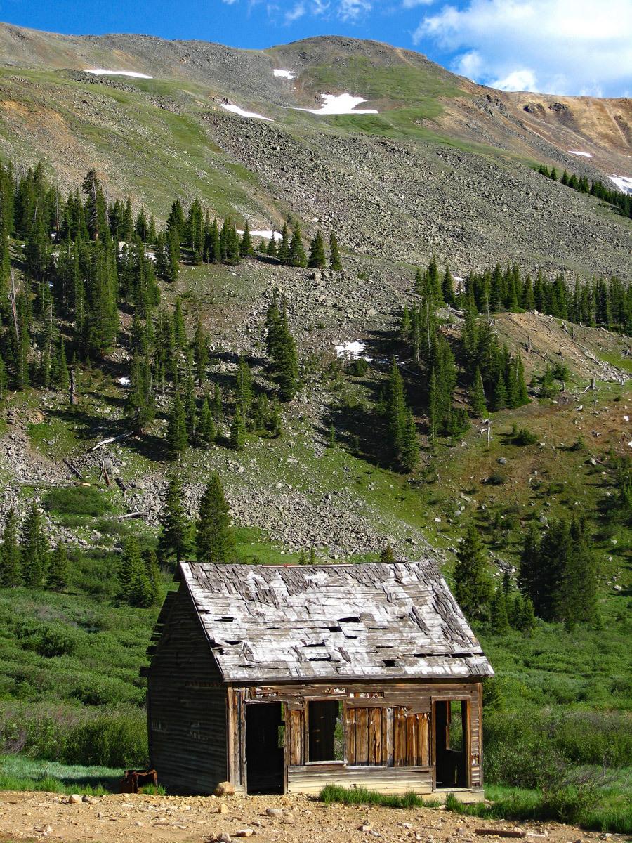 Ruby Mtn Shoe Basin Mine Cabin View
