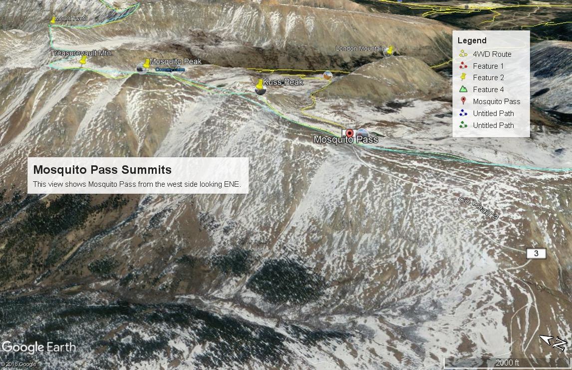 Mosquito Pass Summits - West